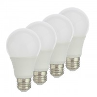 Dimmable 9-Watt A19/A60 LED E26 Screw-In Base Light Bulb UL-Listed (4-Pack)