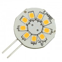 G4 Base Side Pin Disc Type 1.5W LED Bulb with 9xSMD2835 12V AC/DC