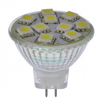 2W LED MR11 Flood Light Bulb with Glass Housing 12V AC/DC