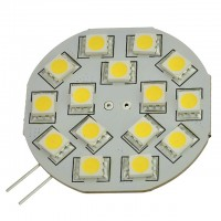 G4 Base Side-Pin Disc Type Large 3W LED Light Bulb with 15xSMD5050 12V AC/DC