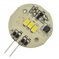 G4 Base Side-Pin 3-LED Disc Type Bulb with Heat Sink (Final Sale)