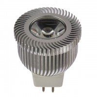 2W LED MR11 Spot Light Bulb with Machined Aluminum Body
