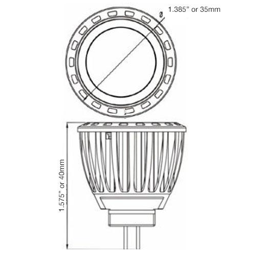 4w Led Mr11 Spot Or Flood Light Bulb 12 Volt Ac Dc 6 Pack