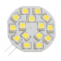 G4 Base Side-Pin Disc Type Large 3W LED Light Bulb with 15xSMD5050 10-30VDC