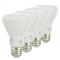 UL BR20 Dimmable LED Light Bulb E26 7.5-Watt (4-Pack)