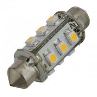 37mm Festoon LED Light Bulb with 12xSMD3528 12VDC 1.3W