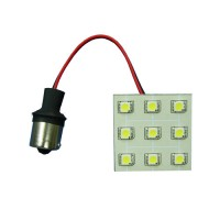 9-LED Mini Light Panel with BA15s Single Contact Bayonet 1156 Base (Final Sale)
