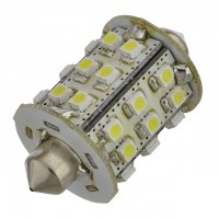 42mm Festoon Navigation Barrel Shape LED Bulb with 30xSMD3528 10-30VDC