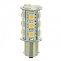 BA15s Single Contact Bayonet Base Tower Type LED Bulb with 18xSMD5050 (Final Sale)
