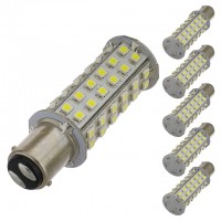 BA15d Dual Contact Bayonet Base 1142 Tower Type LED Bulb with 60xSMD3528 10-30V DC (6-Pack)