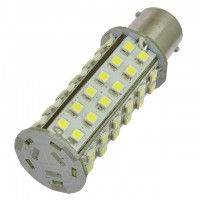 BA15s Tower Type LED Bulb with 60xSMD3528 10-30V DC
