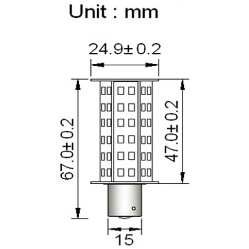 ba15s tower type led bulb with 60xsmd3528 10
