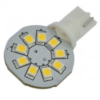 T10 194 Wedge Base Side-Mount Disc Type LED Bulb with 9xSMD2835 12V AC/DC
