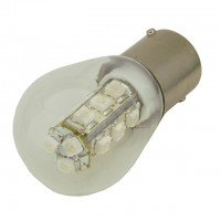 BA15s Bayonet Water-Resistant S8 1W LED Landscape Bulb with Glass Cover 12V AC/DC (Final Sale)