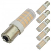 BA15s Base Omnidirectional 3.5-Watt LED Light Bulb with Translucent Cover 12V AC/DC, ETL-Listed (6-Pack)
