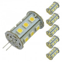 G4 Bi-Pin Tower Type 12V AC/DC 2.5W LED Bulb with 21xSMD5050 (6-Pack) (Final Sale)