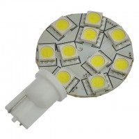 T10 194 Wedge Base Side-Mount Disc Type LED Bulb with 10xSMD5050 10-30V DC