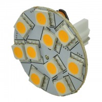 T10 Wedge Base Rear-Mount Disc Type LED Bulb with 10xSMD5050 10-30V DC