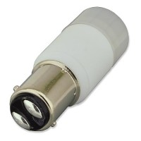 BA15d Base Omnidirectional 2-Watt LED Light Bulb 12 Volt AC/DC or 10-30V DC