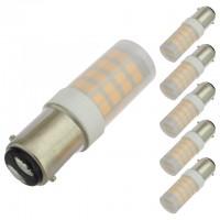 BA15d Base Omnidirectional 3.5-Watt LED Light Bulb with Translucent Cover 12V AC/DC, ETL-Listed (6-pack)