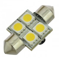 31mm Festoon LED Bulb with 4xSMD5050 10-30V DC
