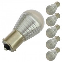 BA15s Bayonet Base S8 1W LED Bulb 12V AC/DC (6-Pack)