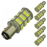 BAY15d 1157 Dual Contact Offset Pins LED Brake Light Bulb with 36xSMD5050 (6-Pack)