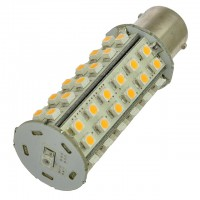 BA15s Bayonet Tower Type LED Navigation Bulb with 60xSMD3528 and Photo Sensor