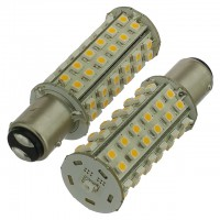 BAY15d Bayonet Tower Type LED Navigation Bulb with 60xSMD3528 and Photo Sensor (2-Pack)