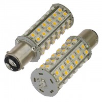 BA15d Bayonet Tower Type LED Navigation Bulb with 60xSMD3528 and Photo Sensor (2-Pack)