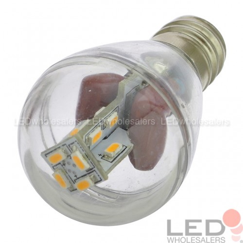 E12 Base S8 1W LED Bulb with 16xSMD3014 and Clear Cover 100