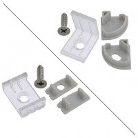 60-Piece Accessory Pack for U-Shaped or V-Shaped Aluminum Channel System