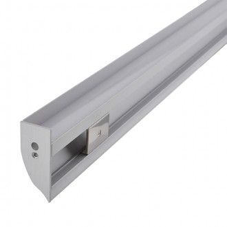 Aluminum Channel System with Cover, End Caps, and Mounting Clips, for LED Strip Installations, Up-Indirect Molding Style, Pack of 5x 1m Segments