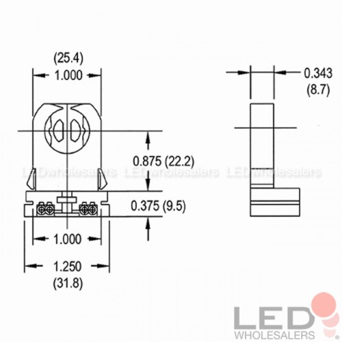 Non Shunted T8 Lamp Holder For Led Fluorescent Tube