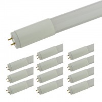 4-ft 18-Watt LED Replacement T8 Tube with Plastic Housing, 35W-Equivalent, Single-Ended Power, UL-Recognized (12-Pack)