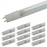4-ft 16-Watt UL Ballast-Compatible T8 LED Tube Light Direct Replacement for 35W Fluorescent (12-Pack), White 5000K