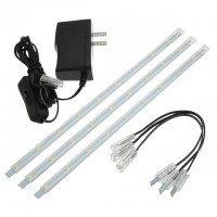 Linkable Under Cabinet Light Set of 3x 10-in LED Strips