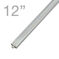 RS03 Linkable Low Profile Aluminum LED Rigid Strip for Display Case and Under Cabinet Lighting, 12-in