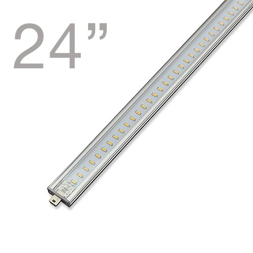 RS03 Linkable Low Profile Aluminum LED Rigid Strip For Display Case And Under  Cabinet Lighting, 24 In