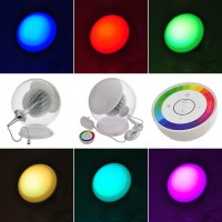LED Color-Changing Mood Light with Wireless RF Remote (Final Sale)