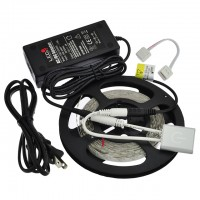 UL 12-Volt 16.4-Feet Flexible LED Strip Kit with Touch-Sensitive PWM Dimmer 24W