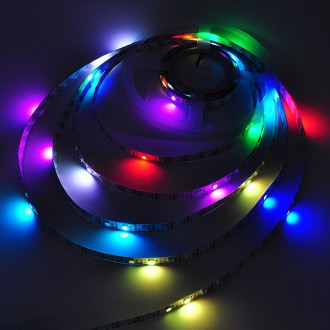 5V 16.4-ft SK6822 Individually Addressable Dream Color Chasing Wave Pattern RGB 300xSMD5050 Magic Pixel LED Strip Kit with Controller and Power Supply