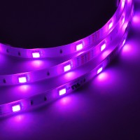 UL IP65 Water-Resistant Silicone Gel 16.4-Feet Flexible Color-Changing LED Strip with 150xSMD5050 RGB, 12-Volt