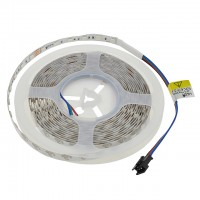 24-Volt 16.4-ft High Output Color-Changing Flexible Ribbon with 300xSMD5050 RGB LEDs and 4-Pin Connector