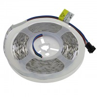 12V 16.4ft RGB Color-Changing Flexible LED Ribbon Strip Light with 150xSMD5050 in White PCB