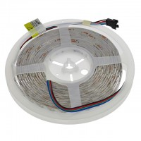 12-Volt 16.4-ft RGB Color-Changing LED Flexible Strip with 150xSMD5050 and Water-Resistant Silicone-Gel Coating