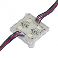 5-Feet String of 10 Water-Resistant Color-Changing LED Modules, Each with 4xSMD5050, 12-Volt