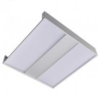 2x2-ft 40-Watt 4650-Lumen Glare-Free LED Troffer Ceiling Light Fixture with 0-10V Dimming, ETL-Listed & DLC-Qualified