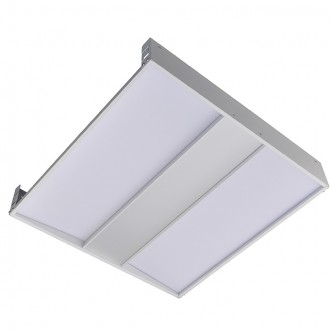 2x2-ft 40-Watt 4650-Lumen Glare-Free LED Troffer Ceiling Light Fixture with 0-10V Dimming, ETL-Listed & DLC-Qualified