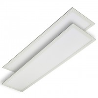1x4-ft 50-Watt Edge-Lit Glare-Free LED Panel Light with 0-10V Dimming, ETL and DLC Listed, Daylight 5000K (2-Pack)
